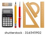 school tools for learning ... | Shutterstock .eps vector #316545902