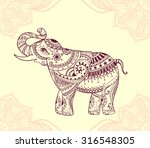 greeting beautiful card with... | Shutterstock .eps vector #316548305