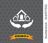 vector icon of safe home on... | Shutterstock .eps vector #316557032
