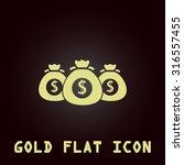 money bag. gold flat vector...