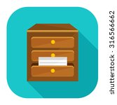 cabinet archive icon | Shutterstock .eps vector #316566662