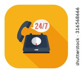 24 7  old phone service | Shutterstock .eps vector #316568666