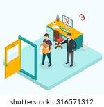 boss dismissed employee.... | Shutterstock .eps vector #316571312