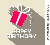 happy birthday retro... | Shutterstock . vector #316573778
