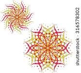 abstract flower  vector  east.... | Shutterstock .eps vector #316578302
