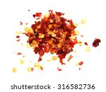 Pile Crushed Red Pepper  Dried...