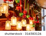 colorful christmas decorations... | Shutterstock . vector #316583126