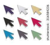set of multicolored 3d cursor... | Shutterstock . vector #316584236