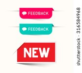 feedback and new paper labels   ... | Shutterstock . vector #316584968