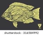 Zentangle Style Fish Vector
