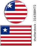 liberian round and square icon... | Shutterstock .eps vector #316588472