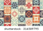 seamless patchwork pattern from ... | Shutterstock .eps vector #316589795