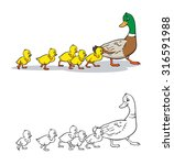 coloring book or page. mother...   Shutterstock .eps vector #316591988