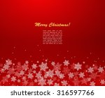 new year red background with... | Shutterstock .eps vector #316597766