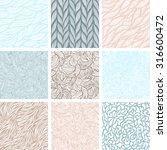 set of nine seamless patterns ... | Shutterstock .eps vector #316600472