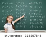 girl with math numbers on... | Shutterstock . vector #316607846