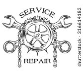service repair and maintenance. | Shutterstock .eps vector #316614182