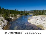 Firehole river, Yellowstone National Park, Wyoming, USA