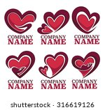vector collection of heart ... | Shutterstock .eps vector #316619126