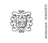 letter ornaments baroque logo... | Shutterstock .eps vector #316620572