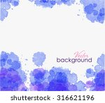 abstract colorful watercolor... | Shutterstock .eps vector #316621196