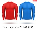 base layer compression shirt... | Shutterstock .eps vector #316623635