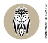owl in a circle logo   Shutterstock .eps vector #316625612