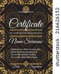 certificate template. golden... | Shutterstock .eps vector #316626152