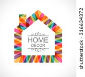 creative house decoration with... | Shutterstock .eps vector #316634372