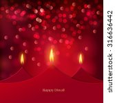 happy diwali festive background ... | Shutterstock .eps vector #316636442