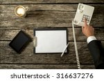 top view of businessperson... | Shutterstock . vector #316637276