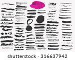 vector large white ink brush...   Shutterstock .eps vector #316637942