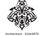decorative wallpaper design in... | Shutterstock .eps vector #31663870