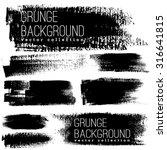set of black ink vector stains | Shutterstock .eps vector #316641815