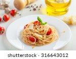 italian spaghetti with tomato... | Shutterstock . vector #316643012