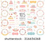 wedding vintage elements big... | Shutterstock .eps vector #316656368