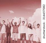 group friends celebration... | Shutterstock . vector #316657082