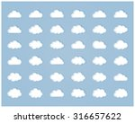 big  set of thirty six white... | Shutterstock . vector #316657622
