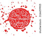 card with hand drawn typography ... | Shutterstock .eps vector #316659905