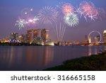 Fireworks Over Marina Bay In...
