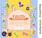 farm equipment elements on... | Shutterstock .eps vector #316665506