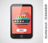 transportation ferry flat icon... | Shutterstock .eps vector #316666868