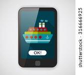 transportation ferry flat icon... | Shutterstock .eps vector #316666925