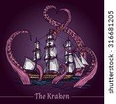 Kraken Decorative Emblem With...