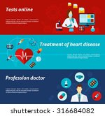medical banner horizontal set... | Shutterstock .eps vector #316684082