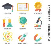 education and science icons set....