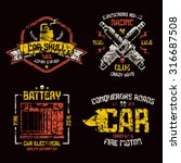 Car Repair And Racing Emblems....
