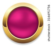 Round Purple Button With Gold...