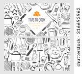 food flyer   kitchen tools | Shutterstock .eps vector #316692962