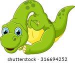 cute dinosaur cartoon | Shutterstock . vector #316694252